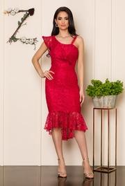 rochii de nunta din dantela rosie